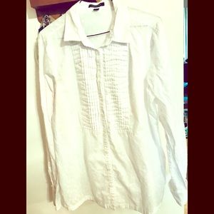 Land's End White Eyelet Blouse